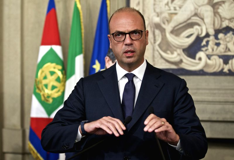 ROME, Dec. 10, 2016 - Angelino Alfano, leader of Italy's New Center Right (NCD) party, speaks after his consultations with Italian President Sergio Mattarella (not seen in the picture) at the ...