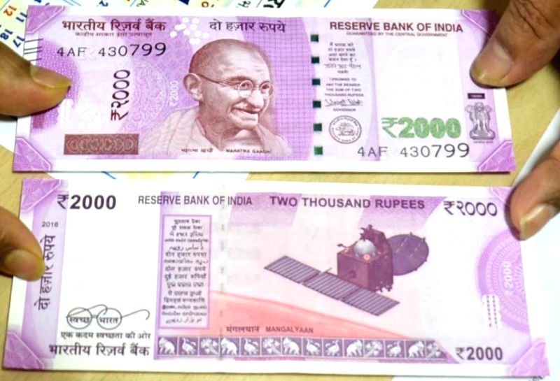 Rs 2000 rupee currency notes. (Image Source: IANS)