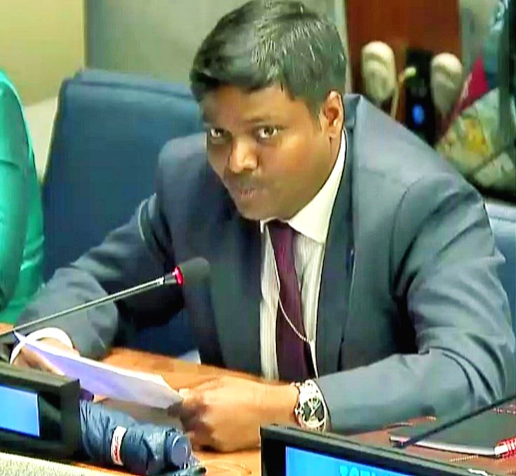 Sandeep Kumar Bayapu, a First Secretary in the India's United Nations Mission, told the General Assembly on Wednesday, Sept. 6, 2017, that the international community has to find ways to bridge the ...