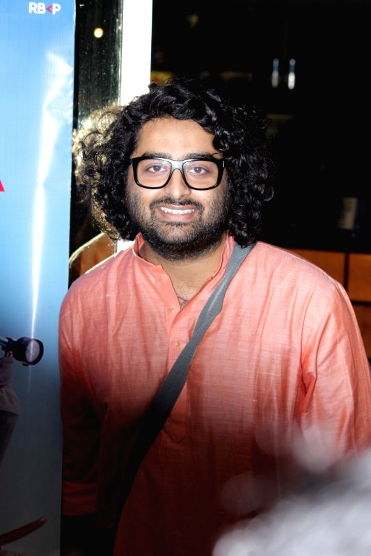 Singer Arijit Singh during music launch of film Poorna in Mumbai on March 3, 2017.