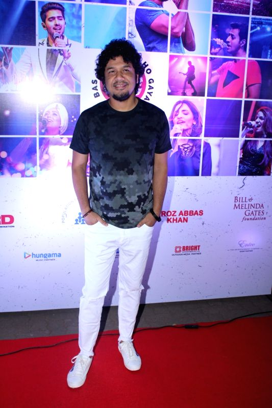 Singer Papon at the red carpet of Lalkaar concert in Mumbai on Nov 21, 2017.