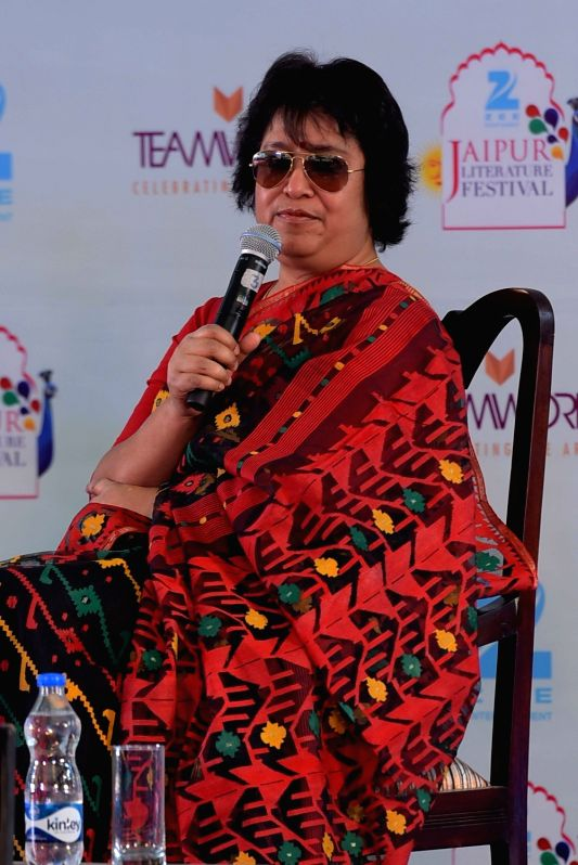 Taslima Nasrin. (Photo: Ravi Shankar Vyas/IANS)(Image Source: IANS News)