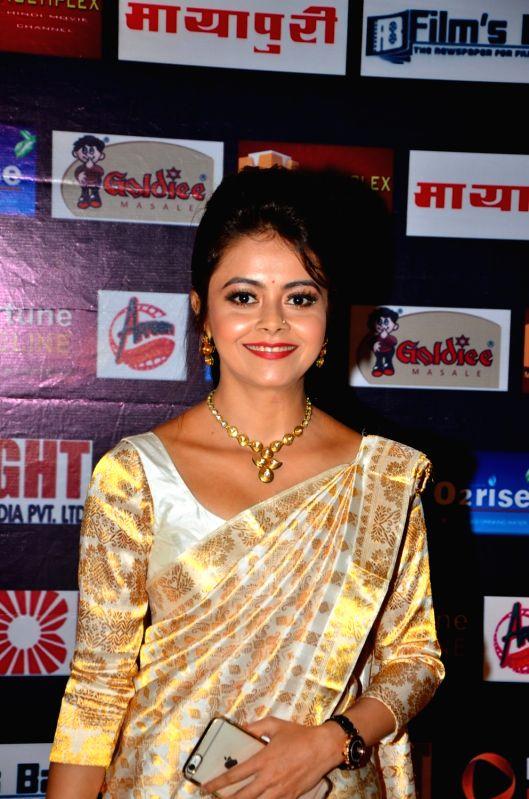 Television actress Devoleena Bhattacharjee during the Dadasaheb Phalke Film Foundation award 2016 in Mumbai, on April 24, 2016.