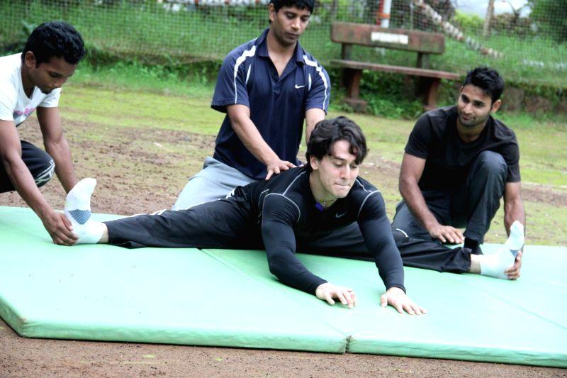 Tiger son of Jackie Shroff during training in Mumbai