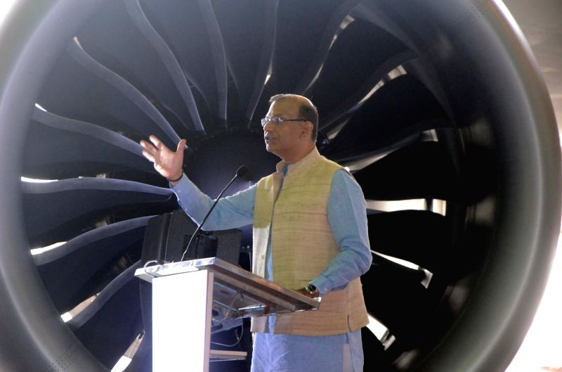 Union Civil Aviation Minister Jayant Sinha addresses during an Air India-Boeing programme in Mumbai on June 14, 2018.(Image Source: IANS)