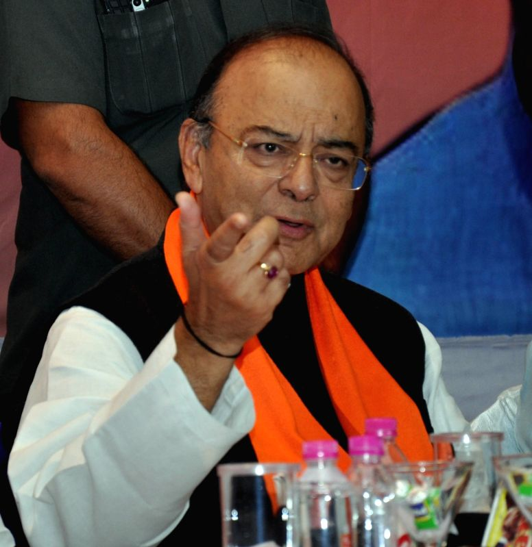 Union Finance Minister and BJP leader Arun Jaitley. (Image Source: IANS)