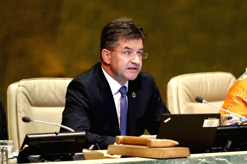 UNITED NATIONS, Sept. 12, 2017 - Miroslav Lajcak, President of the 72nd session of the United Nations General Assembly, addresses the opening of the 72nd session of the UN General Assembly at the UN ...