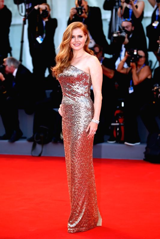 "VENICE, Sept. 2, 2016 - Actress Amy Adams arrives for the premiere of the movie ""Nocturnal Animals"" in competition at the 73rd Venice Film Festival in Venice, Italy, on Sept. 2, 2016."