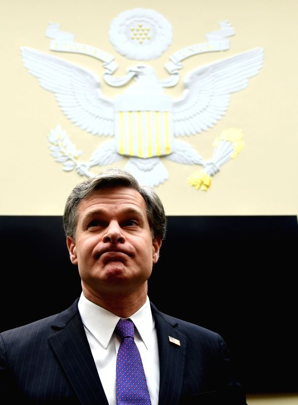 WASHINGTON, Dec. 7, 2017 - FBI Director Christopher Wray arrives for a House Judiciary Committee hearing on Capitol Hill in Washington D.C., the United States, Dec. 7, 2017. FBI Director Christopher ...