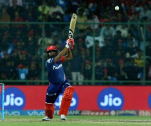 New DelhiL Amit Mishra of the Delhi Daredevils in action