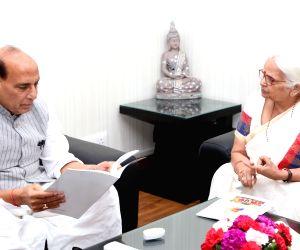 Goa Governor calls on Rajnath Singh