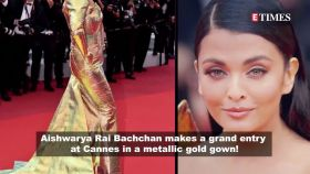 Aishwarya Rai Bachchan stuns in metallic gold gown at Cannes; Hina Khan bonds with Priyanka Chopra, and more…