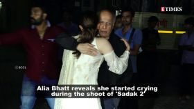 Alia Bhatt reveals she started crying during 'Sadak 2' shooting after watching Mahesh Bhatt getting emotional