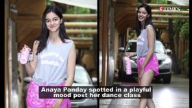 Ananya Panday papped in a playful mood wearing cool athleisure