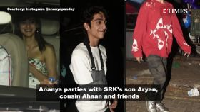 Ananya Panday spotted partying with SRK's son Aryan Khan and cousin Ahaan
