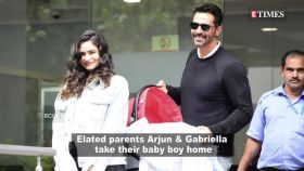 Arjun Rampal and girlfriend Gabriella Demetriades take their newborn home