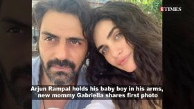 Arjun Rampal's pic holding newborn son is adorable, Gabriella Demetriades shares first pic