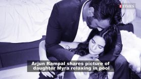 Arjun Rampal shares adorable picture of daughter Myra swimming in the rain