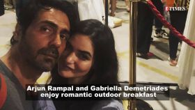 Arjun Rampal shares adorable picture of girlfriend Gabriella Demetriades as they enjoy outdoor breakfast together