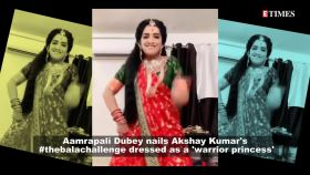 Bhojpuri diva Aamrapali Dubey takes up Akshay Kumar's #thebalachallenge, dresses as 'warrior princess'