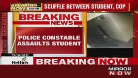 Caught on cam: Scuffle between student and a cop in Karnataka's Chikkaballapur