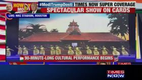 Colourful dance programmes enthrall massive crowd at 'Howdy, Modi' event