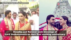Deepika Padukone, Ranveer Singh take blessings of Lord Venkateshwara, share the most adorable picture