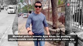 Ex-Bigg Boss contestant Ajaz Khan arrested by Mumbai police for controversial video