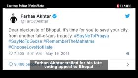 Farhan Akhtar trolled for his late voting appeal; Ananya Panday says she loves spending time with Kartik Aaryan, and more
