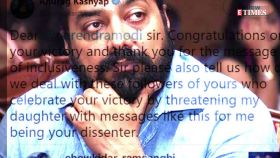 FIR registered against trolls who threatened to rape Anurag Kashyap's daughter