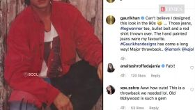 Gauri Khan shares throwback pic of Shah Rukh dancing with Kajol; says, 'can't believe I designed this look'