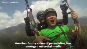 Hawa kam karo: Another paragliding video goes viral