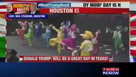 #HowdyModi: Artists perform Bhangra on stage