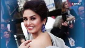 Huma Qureshi makes a splash in a scintillating ivory coloured sari at Cannes