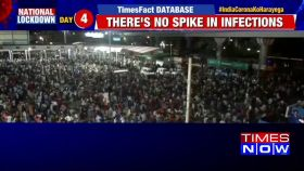 India lockdown: Migrant workers in very large numbers at Delhi's Anand Vihar bus terminal