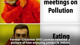 Internet trolls Gautam Gambhir for jalebis instead of attending pollution meet in Delhi