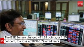 Investors lose over Rs 2 lakh as Sensex plunged 491 points