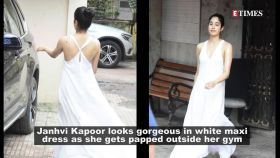 Janhvi Kapoor ditches her regular workout clothes, looks surreal in white maxi dress