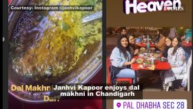 Janhvi Kapoor relishes Dal Makhni in Chandigarh