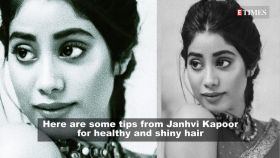 Janhvi Kapoor swears by this routine for her shiny long hair!