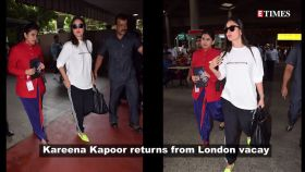 Kareena Kapoor Khan is at her quirkiest best, flaunts her neon shoes at the airport