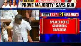 Karnataka political crisis: No vote of confidence till discussion over, says speaker