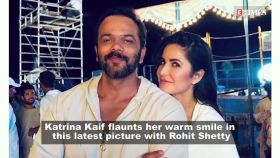 Katrina Kaif's ear-to-ear smile with Rohit Shetty on 'Sooryavanshi' sets is everything you need to see today!
