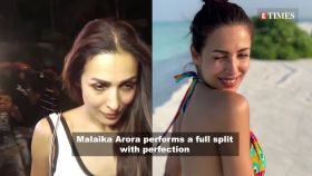 Malaika Arora flaunts her flexible body as she performs a full split, reveals happiness mantra
