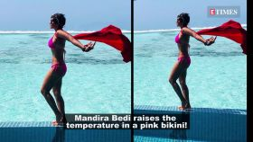Mandira Bedi poses like a superhero, flaunts her washboard abs