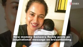 New mommy Sameera Reddy posts an inspirational message on breastfeeding
