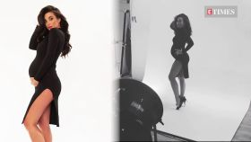 Pregnant Amy Jackson slays it in black in her latest maternity shoot