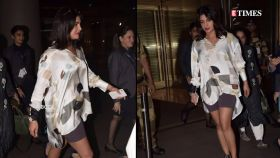 Priyanka Chopra gets trolled for donning cycling shorts as she returns to Mumbai
