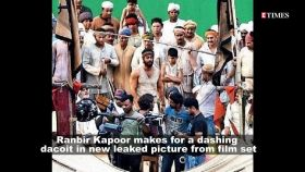 Ranbir Kapoor's dacoit look from 'Shamshera' sets in black pathani suit goes viral