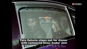 Rumoured couple Tara Sutaria and Aadar Jain paint the town red as they step out for dinner date